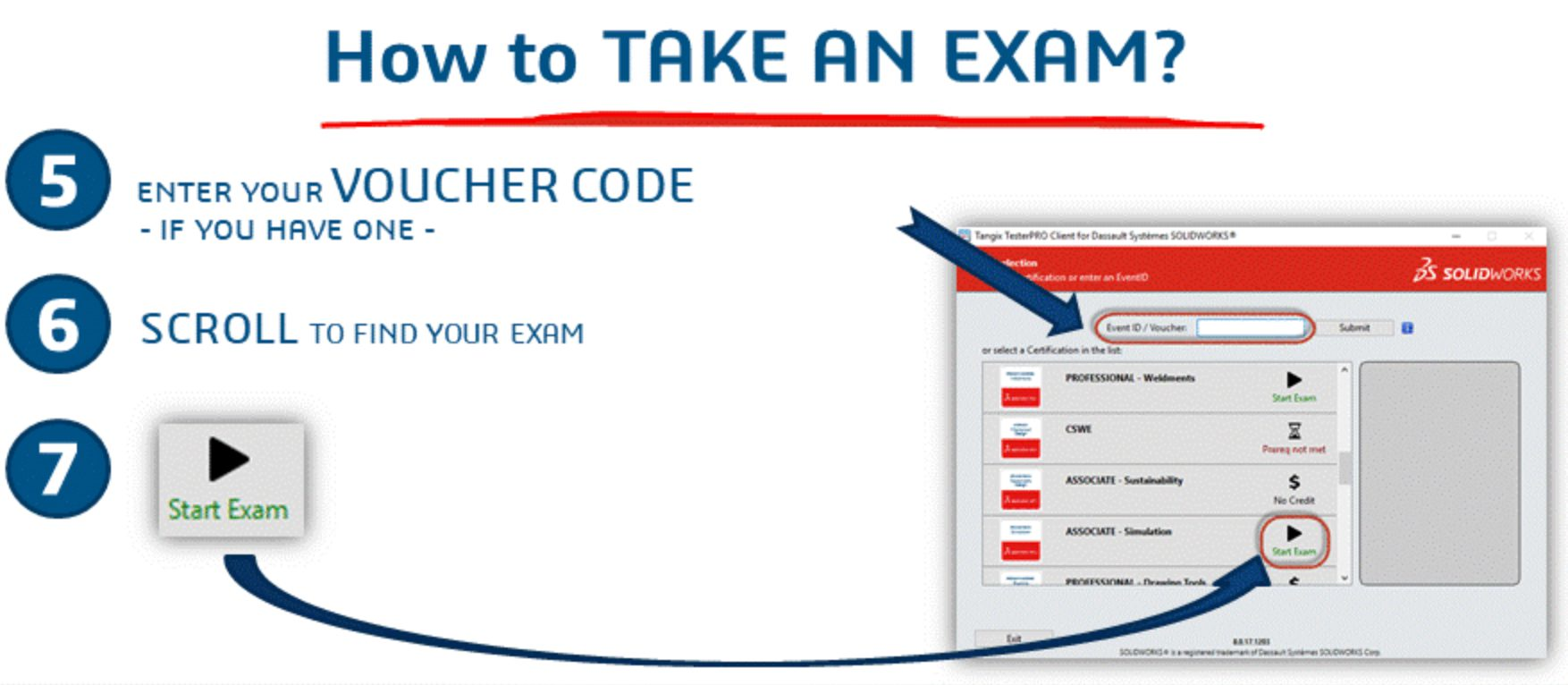 solidworks certification exam types