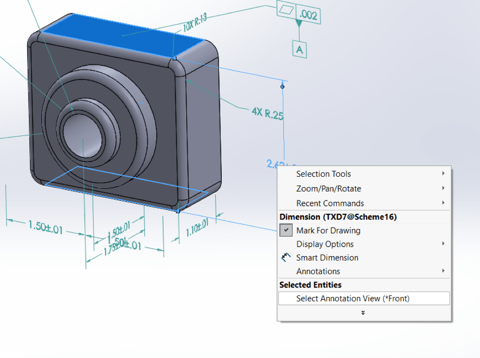 what is solidworks gdandt