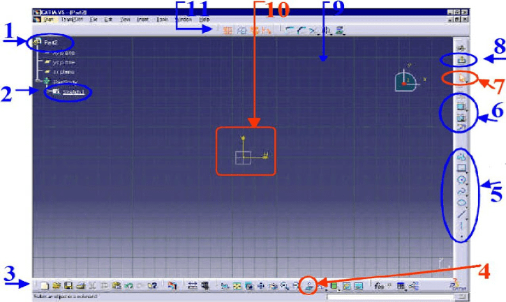 catia cam software interface