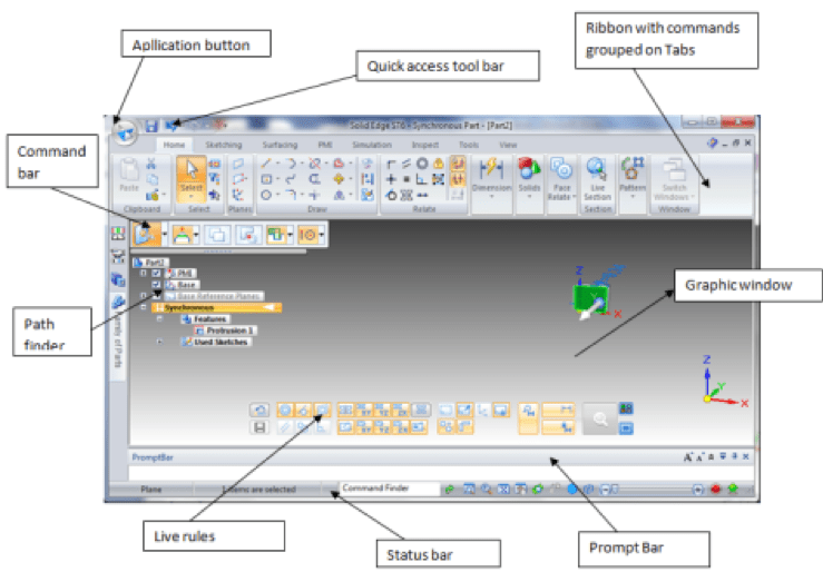 solid edge cad software interface