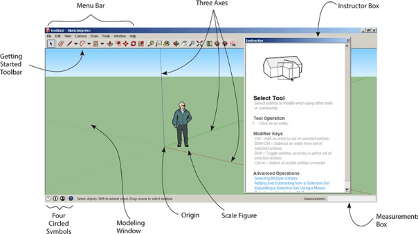 sketchup cad software interface