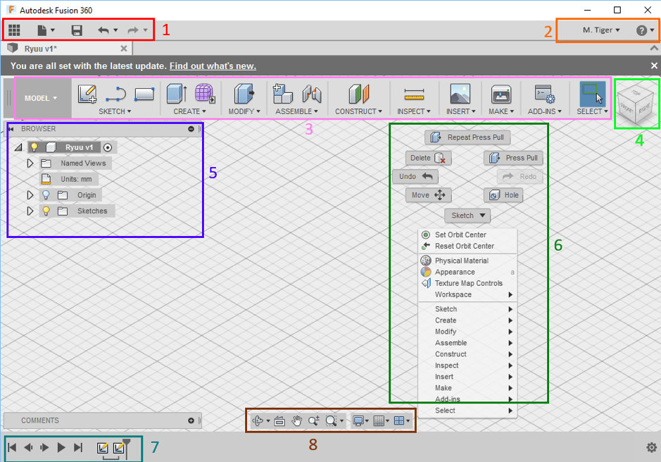 autodesk fusion cad software interface