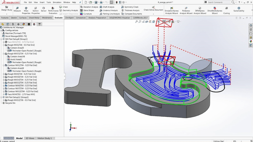 solidworks cam operations