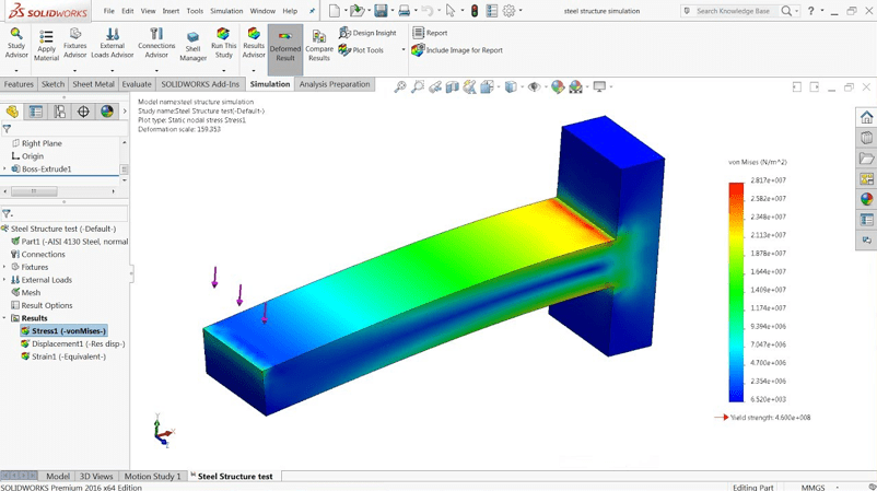 solidworks cad software simulation