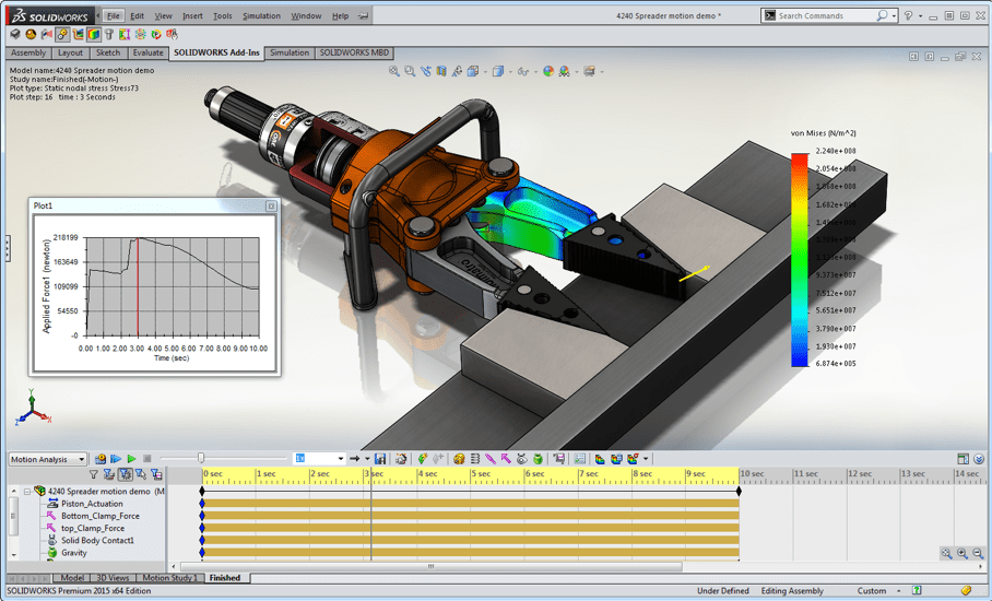 solidworks cad software simulation parts and assemblies fea