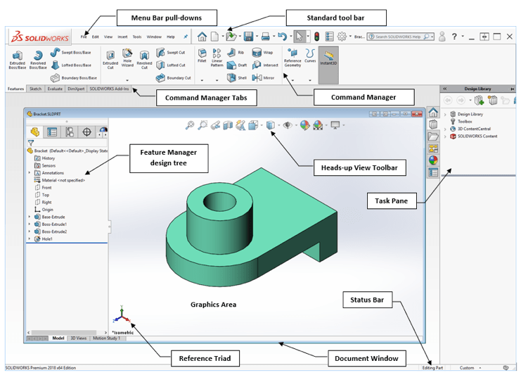 solidworks cad software interface