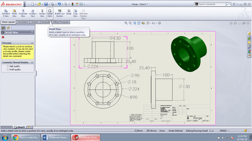 solidworks template drawing