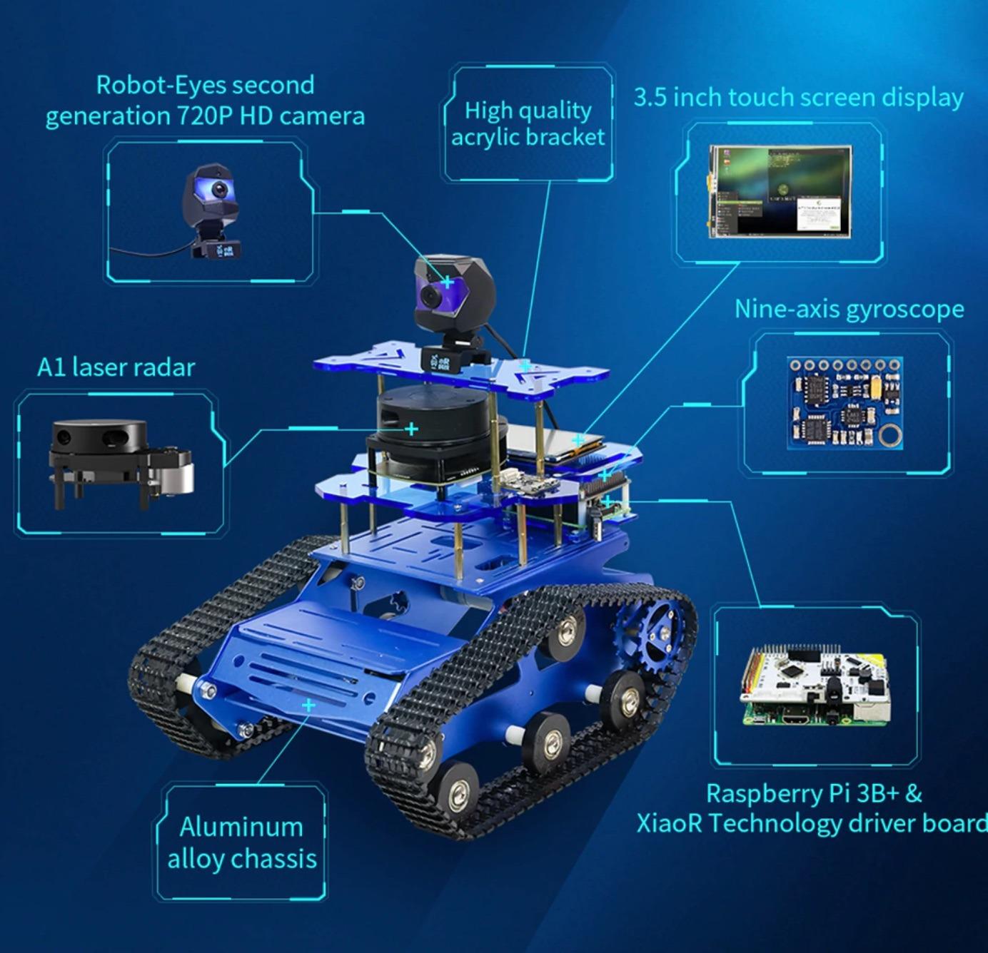 lidar autonomous driving tank robot kit review